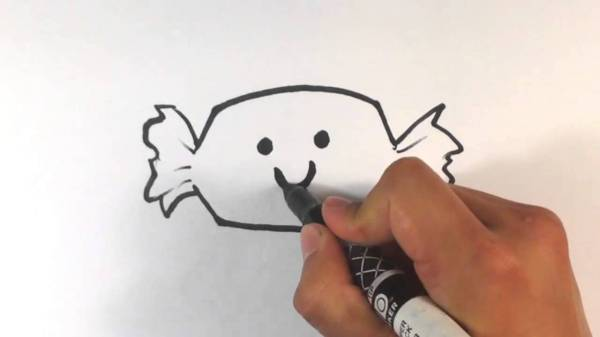 diy cute halloween candy trick or treat drawing on paper