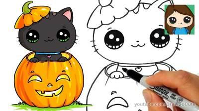 draw so cute halloween tutorials