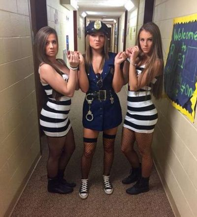 police cop-robbers college girls halloween costume ideas