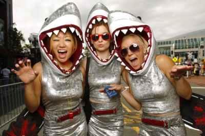 shark group girls halloween costume ideas