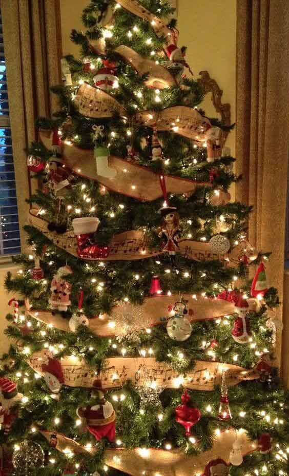 Christmas tree decors with ornaments