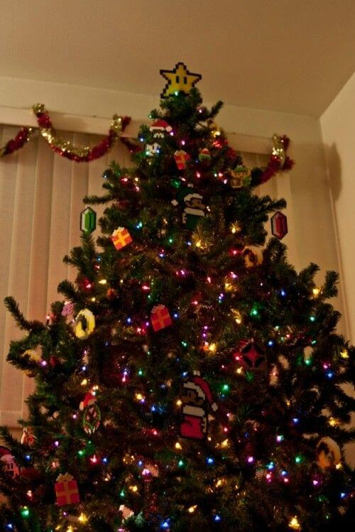 Super Mario Christmas tree decors