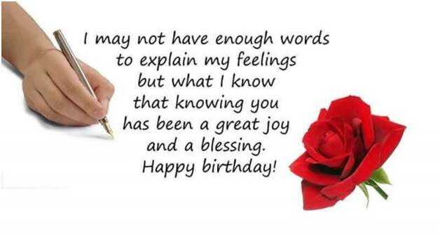 birthday message flower images for her