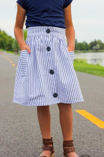 teen girls button front skirt ideas