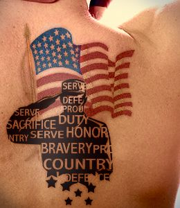 3d american army soldier tattoo design