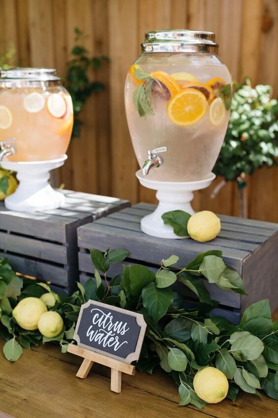 summer garden party lemon orange drink ideas