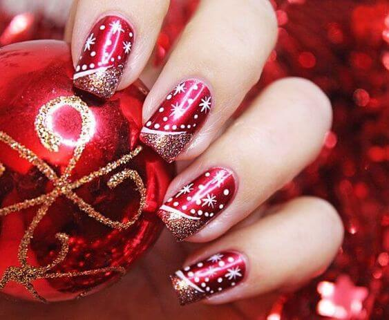 red christmas nail designs