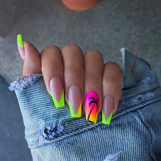 summer acrylic nail designs 2019