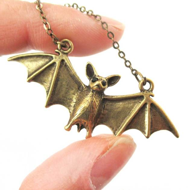 bat pendant necklace jewelry