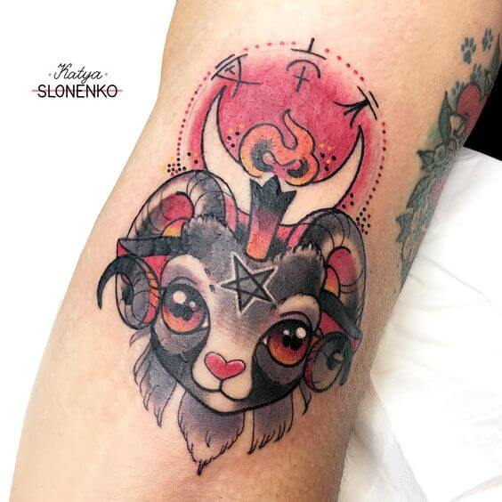 cute baphomet tattoo design