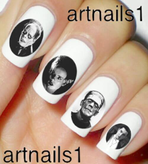 monsters nail art stickers