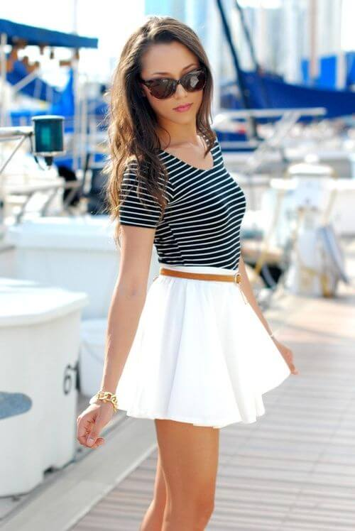 skater skirt outfit ideas for girls