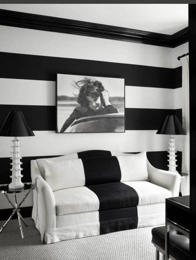black and white room designs