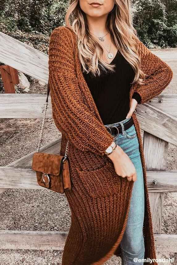 fall long cardigan outfits