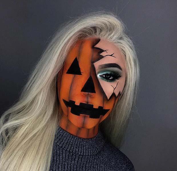 halloween pumpkin makeup looks