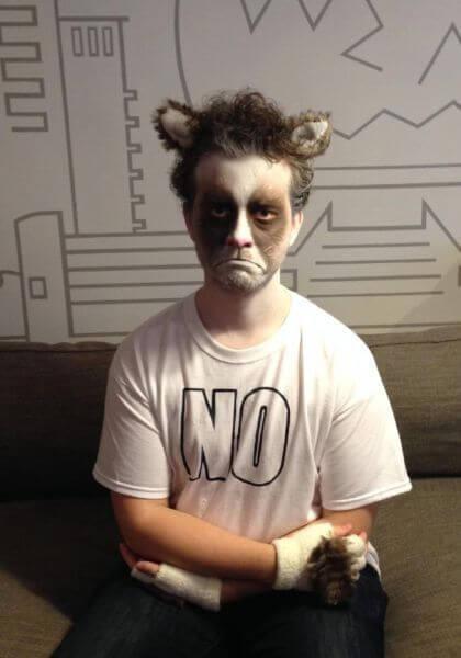 man's grumpy cat face paint ideas for adults