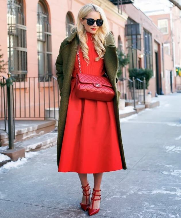 green and red christmas dress ideas for women