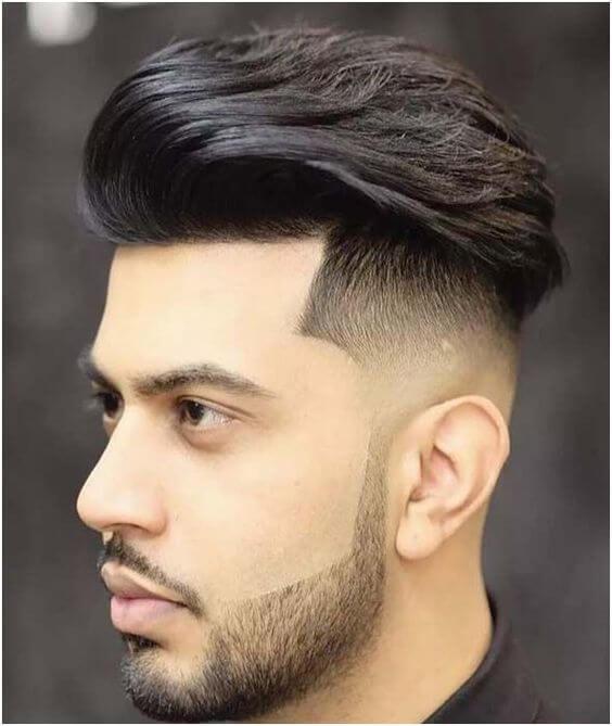 brushed back 2020 haircut for men