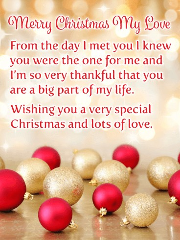 merry christmas wishes for love