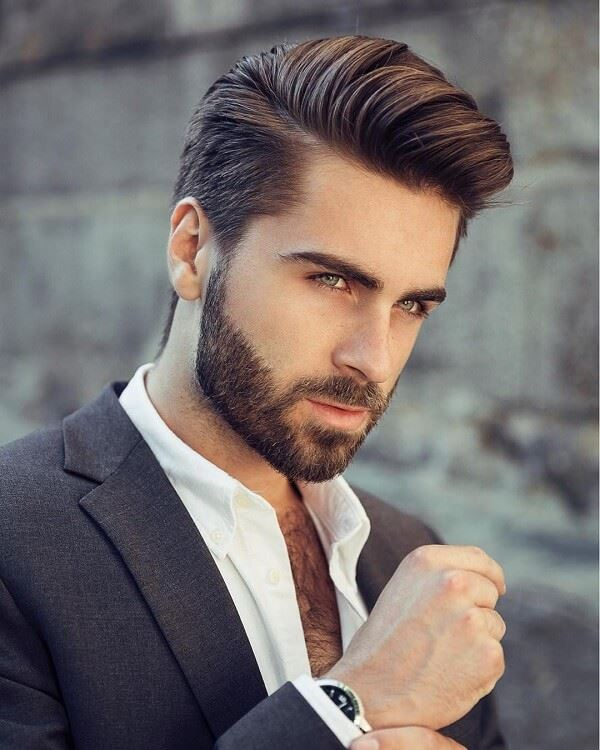 side line combed 2020 hairstyle for modern men