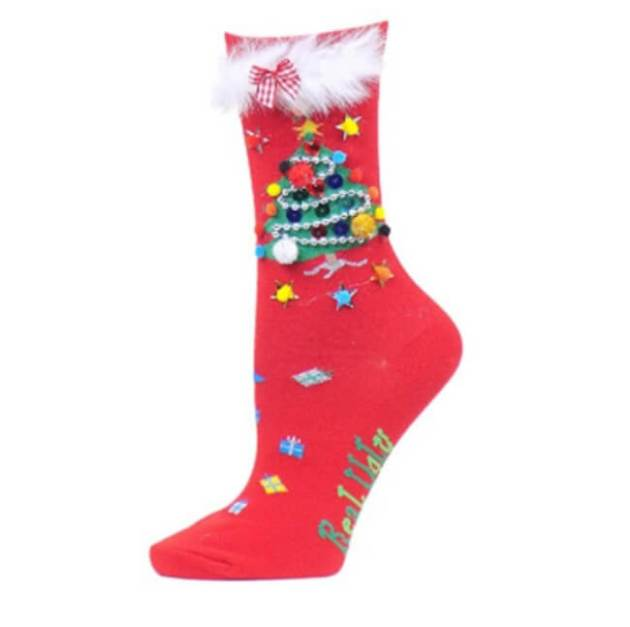 ugly Christmas tree socks