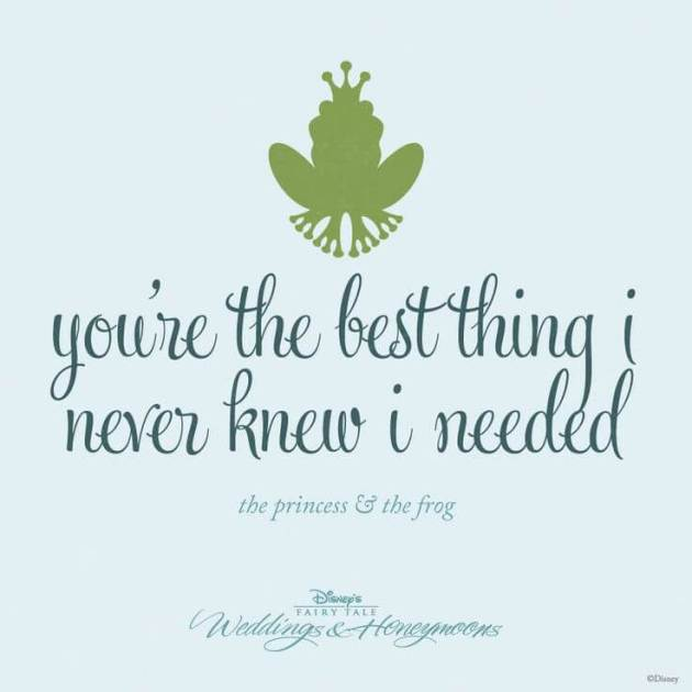 famous Walt Disney love movie The Princess & The Frog cute romantic love quote