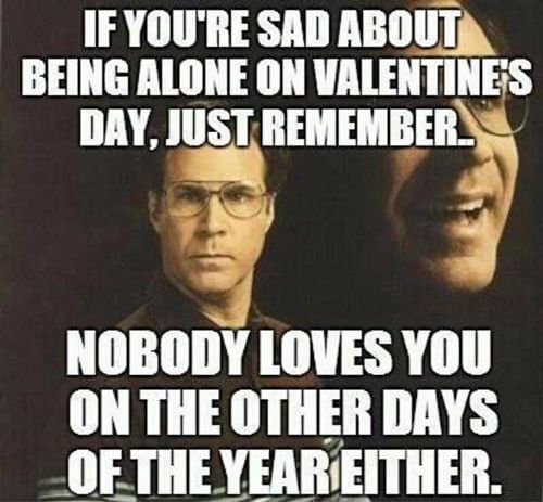 alone on valentines day meme