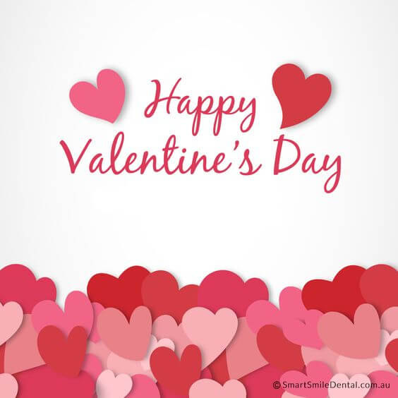 download free happy valentines day red and pink hearts image