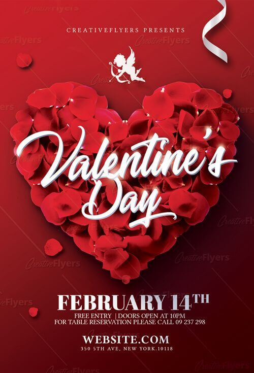 download free valentines day flyer image