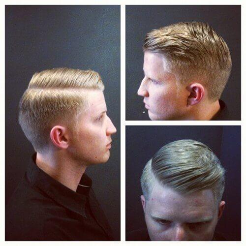 1950's men's fade haircut