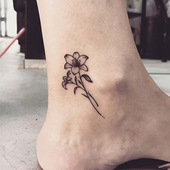 jasmine tattoo design on ankle