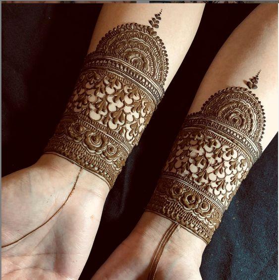 traditional mehndi bracelet design