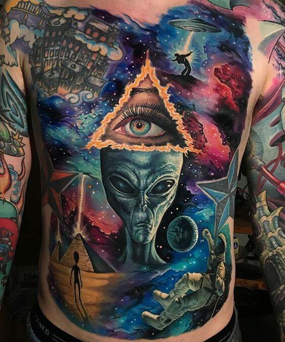 astronomy tattoo ideas for full body