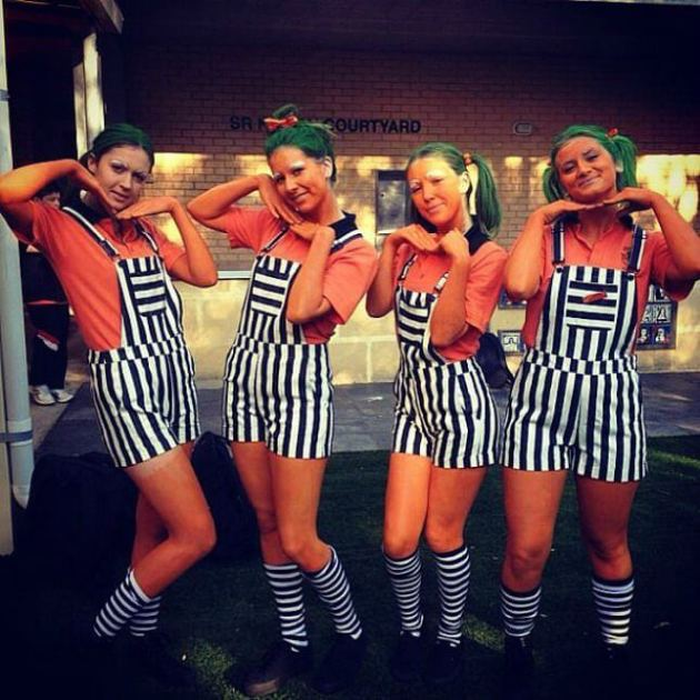 cool diy girls squad halloween costume ideas for 4
