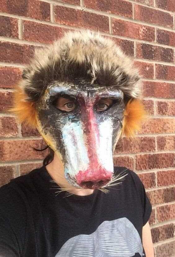 diy creepy monkey mask halloween idea