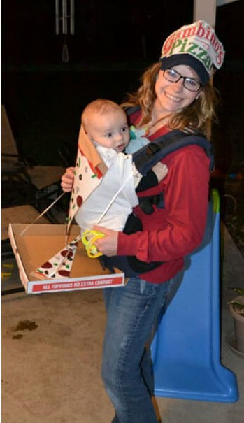 pizza delivery baby carrier halloween costume idea