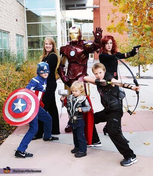 avengers family halloween costumes ideas