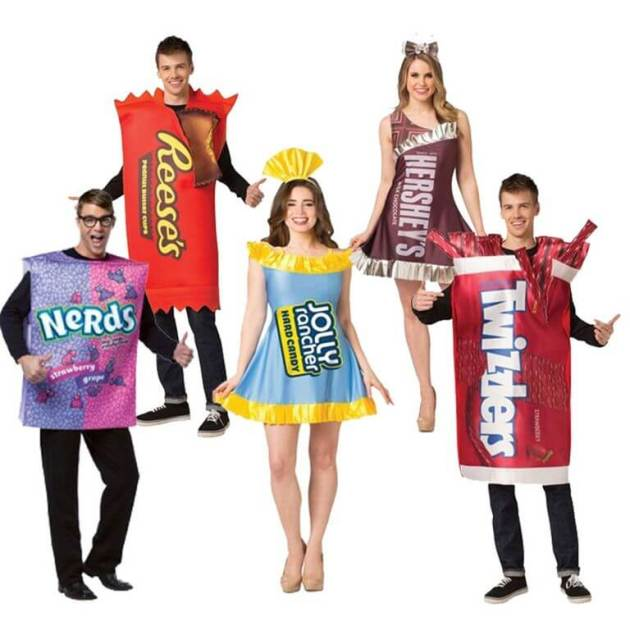 candy group halloween costumes for work