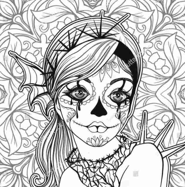 day of the dead coloring picture