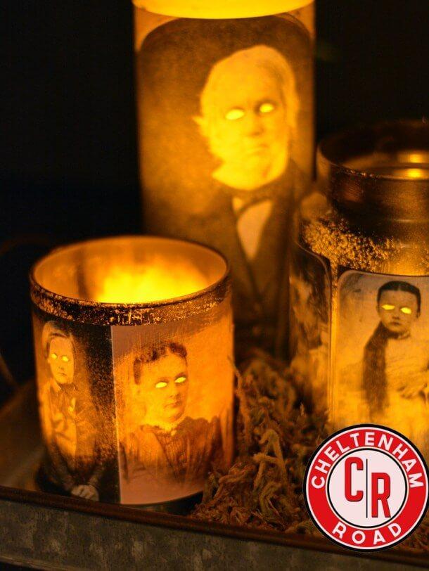 diy haunted mansion candle decor ideas
