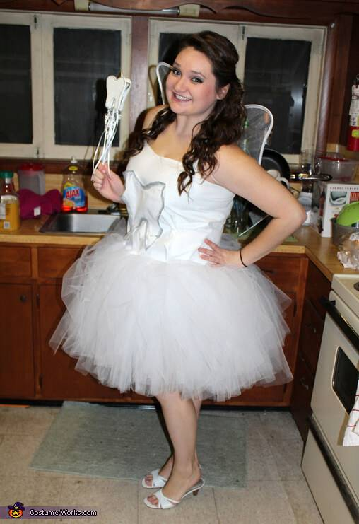 tooth fairy homemade plus size halloween costume idea