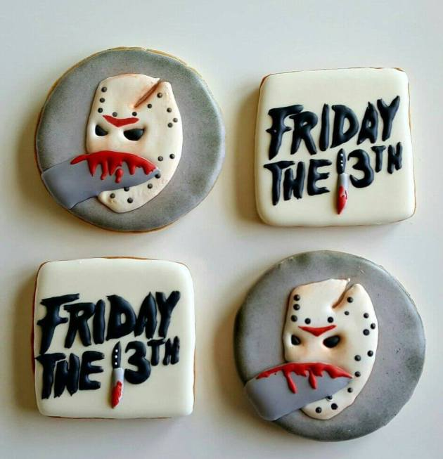 friday the 13th horror cookies design for halloween