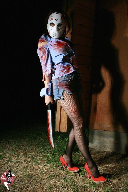 friday the 13th jason female getup idea for halloween
