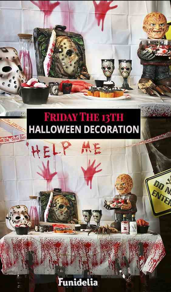 friday the 13th table decoration idea for halloween