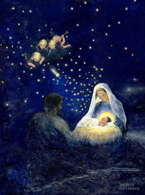 holy christmas painting image