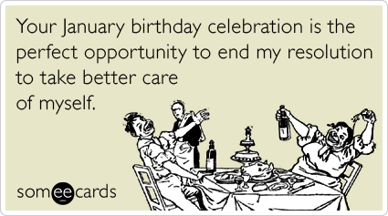 new year resolution january birthday meme