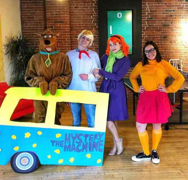 scooby doo group halloween costumes for work