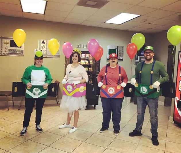 super mario group halloween costumes for work