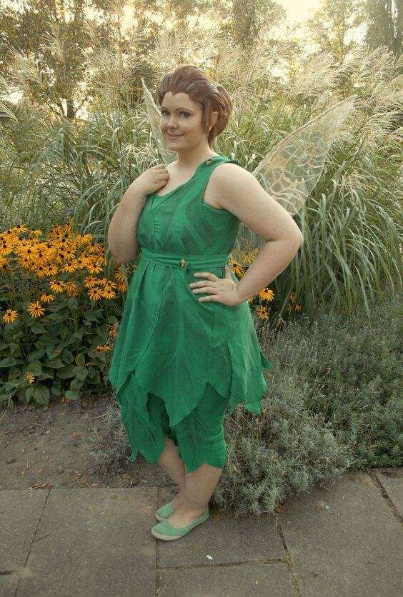 tinker bell homemade plus size halloween costume idea