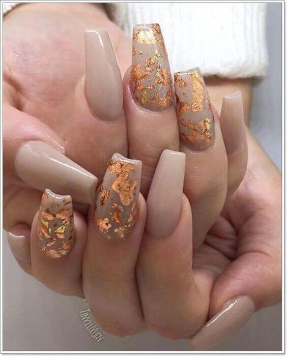 autumn fall acrylic coffin christmas nails